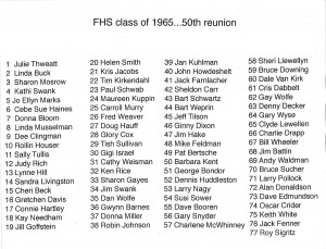 FHS 50th reunion final names